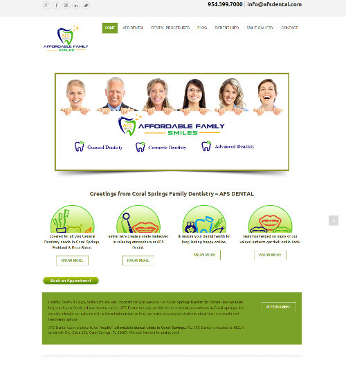 Web Design Portfolio Image - AFS Dental