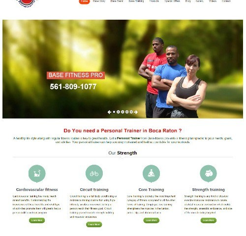 Web Design Portfolio Image - Base Fitness Pro