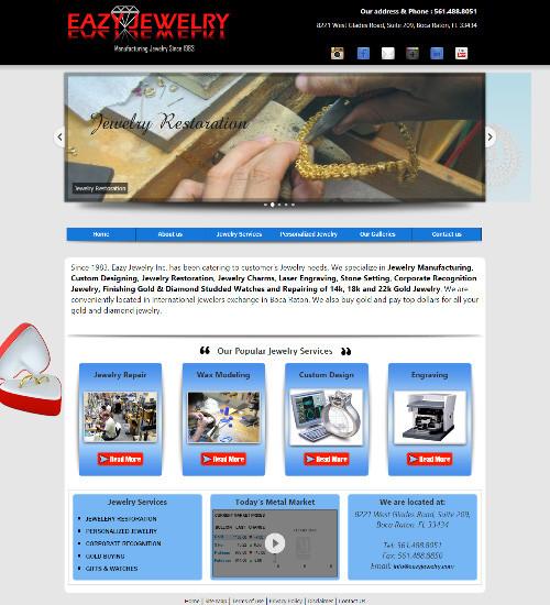 Web Design Portfolio Image - Eazy Jewelry