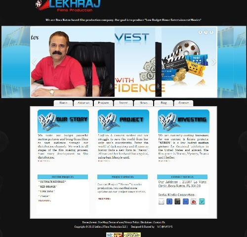 Web Design Portfolio Image - Lekhraj Films