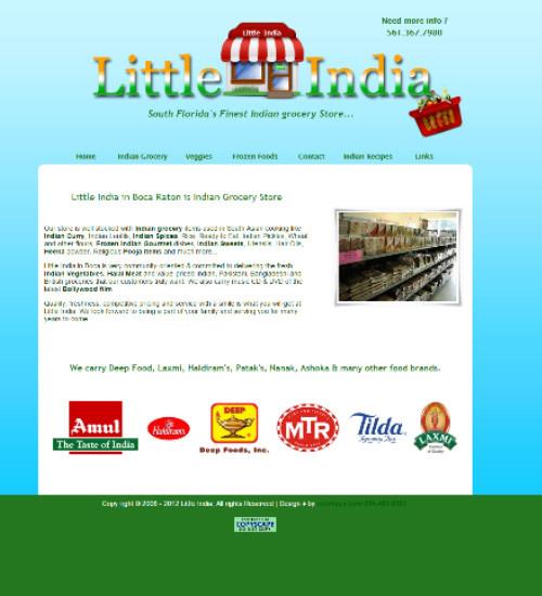 Web Design Portfolio Image - Little India